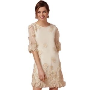 BHLDN Applique Gardenia Dress